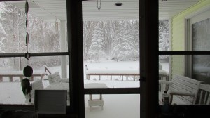 When I look through my window I find peace in silent snow
