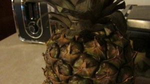 fresh pinapple close up