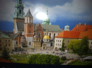 A piece of colorful tapestry in Poland, thank you Debbie