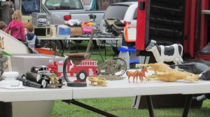Old things that no one wants at the Flea Market.