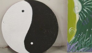 Black and white, yin and yang